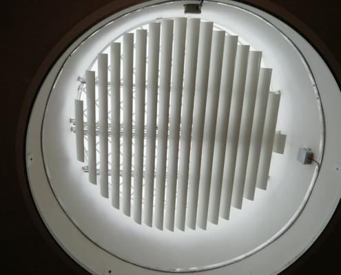 Interiérový kruhový slunolam