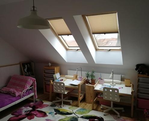 Plisé pro kolmá a střešní okna