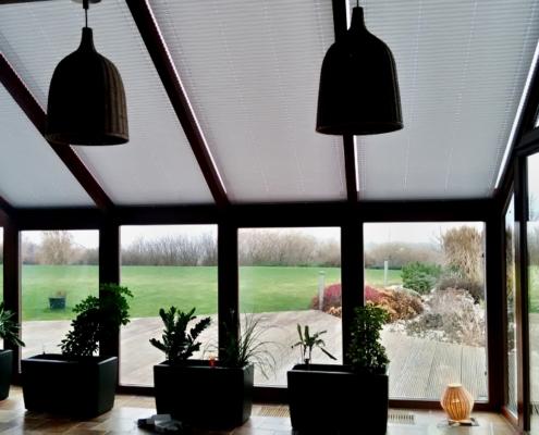 Plisé pro střechu zimní zahrady v atypickém provedení