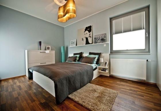 Plisé se dvěma látkami pro ukázkový byt v Praze
