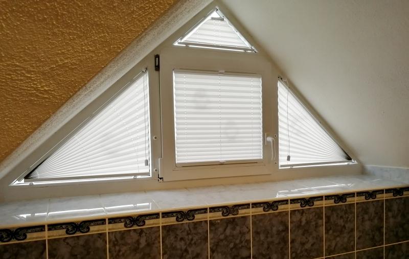 Plisé pro atypická šikmá okna
