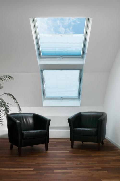Plisé střešní okna