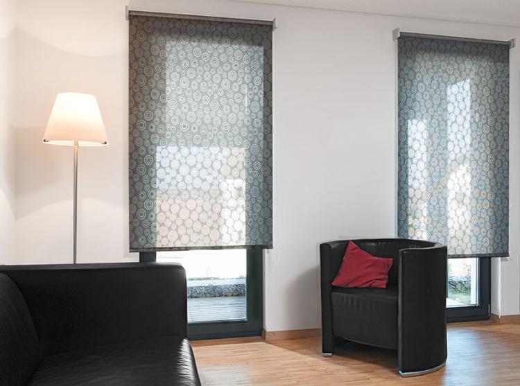 Interiérové textilní svinovací rolety